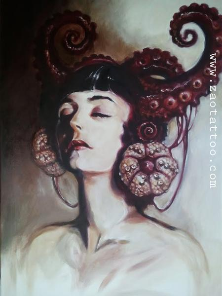 Looking for unique  Art Galleries? Tentacles Portrait